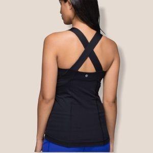 Lululemon black criss cross straps tank top